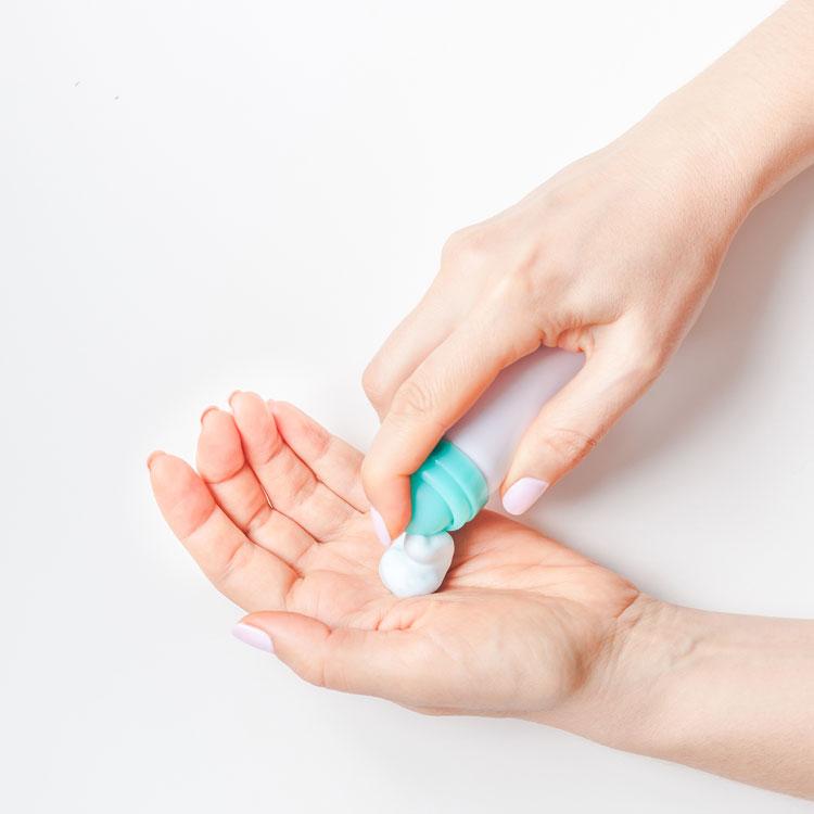 Formule innovante avec une texture et une sensorialité nouvelle : une mousse de vitamine C visage