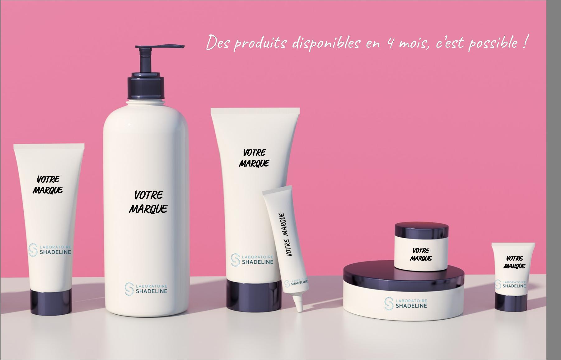 Offre clé en main de produits cosmétiques et dermocosmétique ready to use sur le marché rapidement
